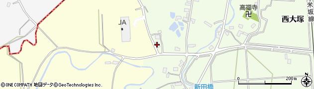 山形県東置賜郡川西町西大塚1050周辺の地図