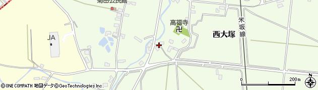 山形県東置賜郡川西町西大塚1103周辺の地図