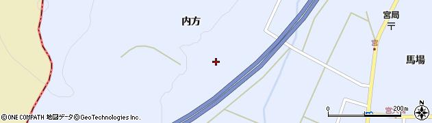 宮城県蔵王町(刈田郡)宮(内方前)周辺の地図