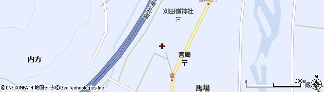 宮城県蔵王町(刈田郡)宮(明神脇)周辺の地図