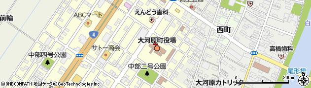 宮城県柴田郡大河原町周辺の地図
