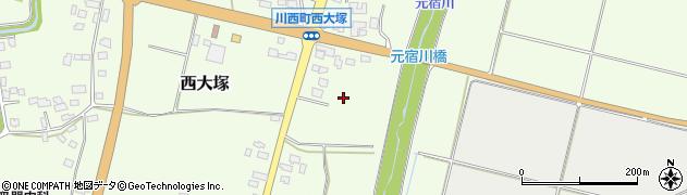 山形県東置賜郡川西町西大塚新道周辺の地図