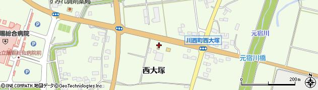 山形県東置賜郡川西町西大塚2308周辺の地図