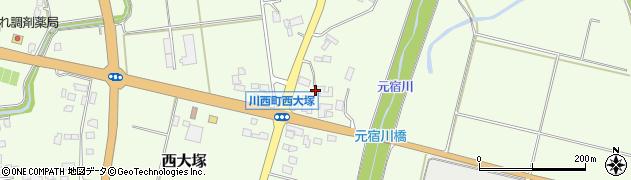 山形県東置賜郡川西町西大塚2449周辺の地図