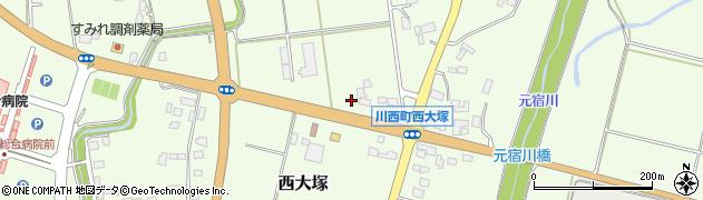 山形県東置賜郡川西町西大塚2407周辺の地図