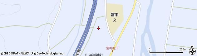 宮城県蔵王町(刈田郡)宮(明神裏)周辺の地図