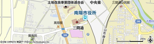 山形県南陽市周辺の地図