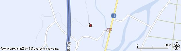 宮城県蔵王町(刈田郡)宮(欠)周辺の地図