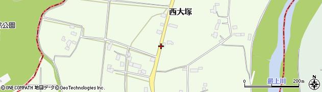 山形県東置賜郡川西町西大塚3736周辺の地図