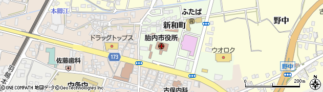 新潟県胎内市周辺の地図