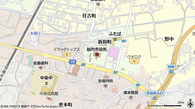 〒959-2600 新潟県胎内市(以下に掲載がない場合)の地図