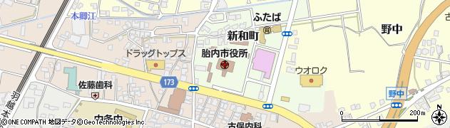 胎内市市役所 福祉介護課周辺の地図