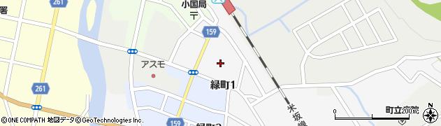山形県西置賜郡小国町岩井沢周辺の地図