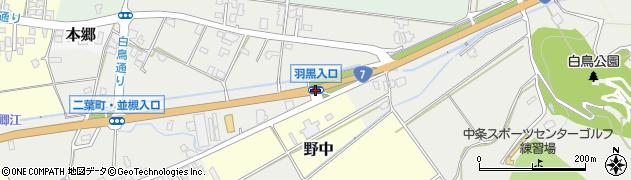 羽黒入口周辺の地図