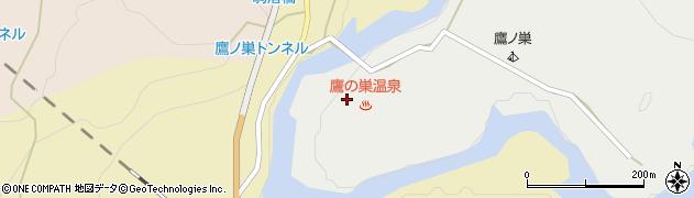 鷹の巣温泉(えちごせきかわ温泉郷)周辺の地図