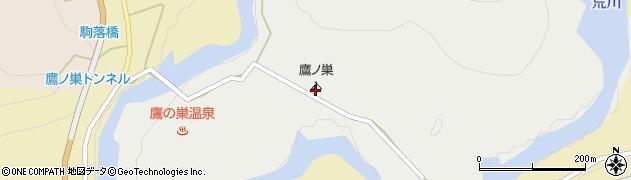 鷹ノ巣キャンプ場周辺の地図