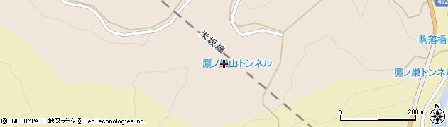 鷹ノ巣山トンネル周辺の地図