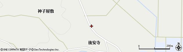 宮城県蔵王町(刈田郡)曲竹(土合沢)周辺の地図