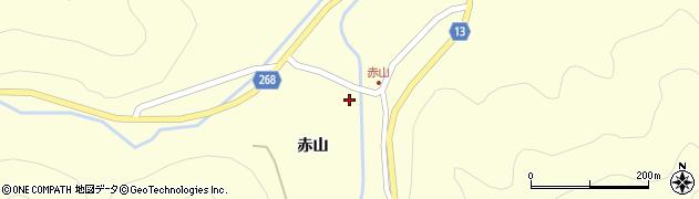 山形県上山市楢下赤山裏1468周辺の地図