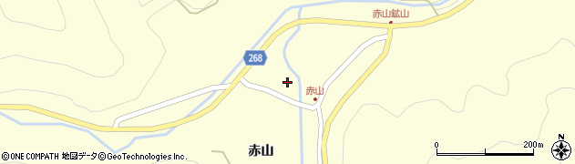 山形県上山市楢下赤山裏1469周辺の地図