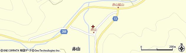 山形県上山市楢下赤山1395周辺の地図
