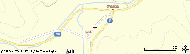 山形県上山市楢下赤山1409周辺の地図