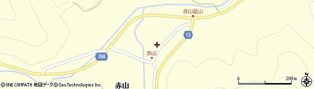 山形県上山市楢下赤山1396周辺の地図