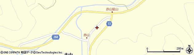 山形県上山市楢下赤山1408周辺の地図