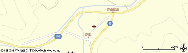 山形県上山市楢下赤山1397周辺の地図