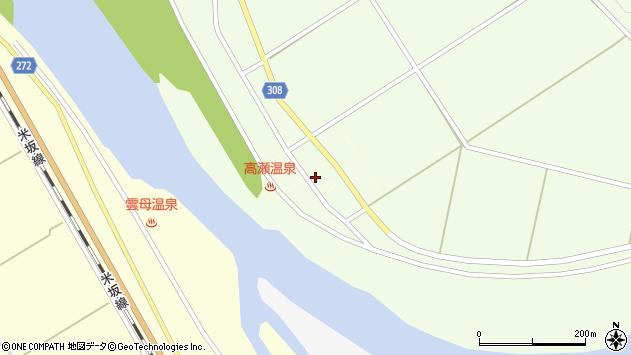 〒959-3263 新潟県岩船郡関川村高瀬の地図