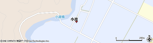 山形県西置賜郡小国町小渡周辺の地図