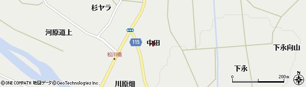 宮城県蔵王町(刈田郡)円田(中田)周辺の地図