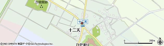 十二天周辺の地図