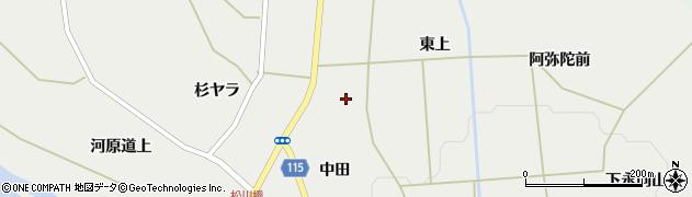 宮城県蔵王町(刈田郡)円田(桜下)周辺の地図
