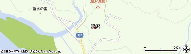 新潟県関川村(岩船郡)湯沢周辺の地図