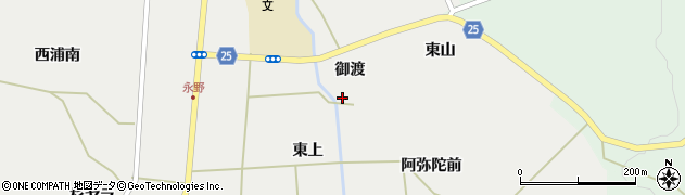宮城県蔵王町(刈田郡)円田(東下)周辺の地図