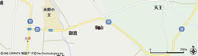 宮城県蔵王町(刈田郡)円田(東山)周辺の地図