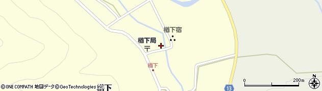 山形県上山市楢下18周辺の地図