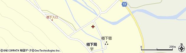 山形県上山市楢下32周辺の地図