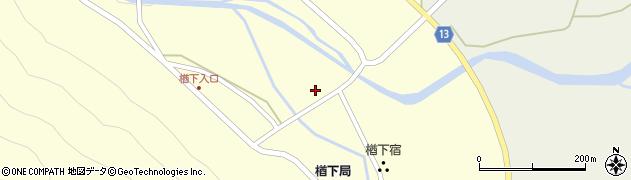 山形県上山市楢下44周辺の地図