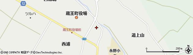 宮城県蔵王町(刈田郡)円田(天王下)周辺の地図