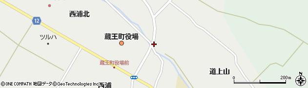 宮城県蔵王町(刈田郡)円田(愛宕山)周辺の地図