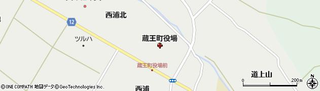 宮城県刈田郡蔵王町周辺の地図