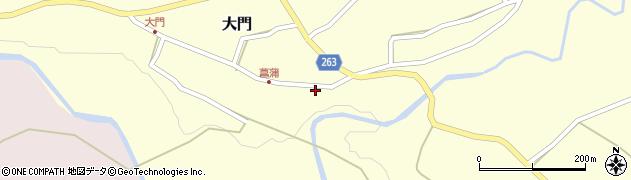 山形県上山市菖蒲31周辺の地図