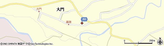 山形県上山市菖蒲21周辺の地図