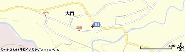 山形県上山市菖蒲周辺の地図