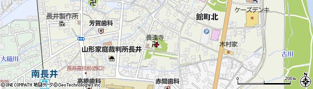 長遠寺周辺の地図