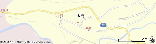 山形県上山市大門周辺の地図
