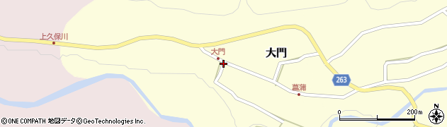 山形県上山市大門40周辺の地図