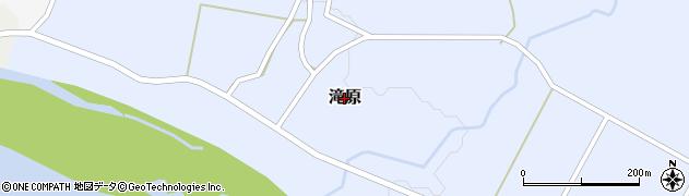 新潟県関川村(岩船郡)滝原周辺の地図